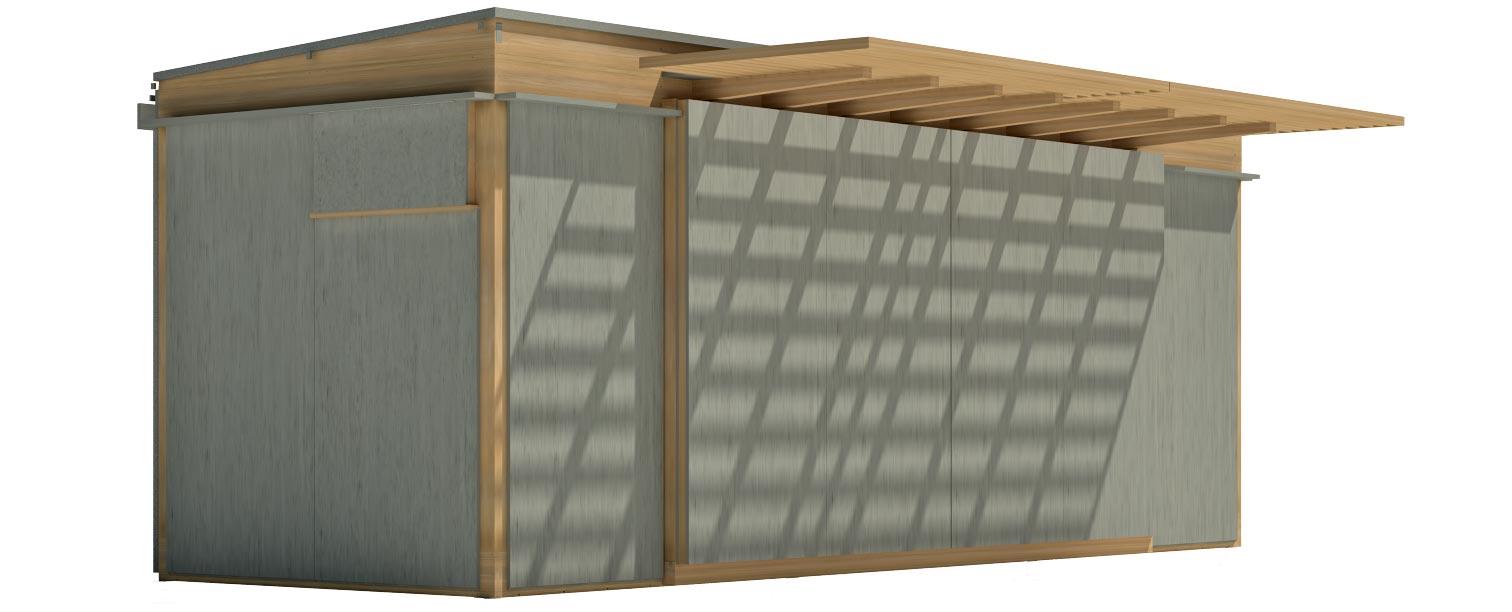 mixto madera/zinc