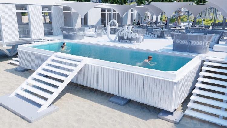 Club de Playa para Cotton LifeStile, realizado con el sistema constructivo Ubuild.